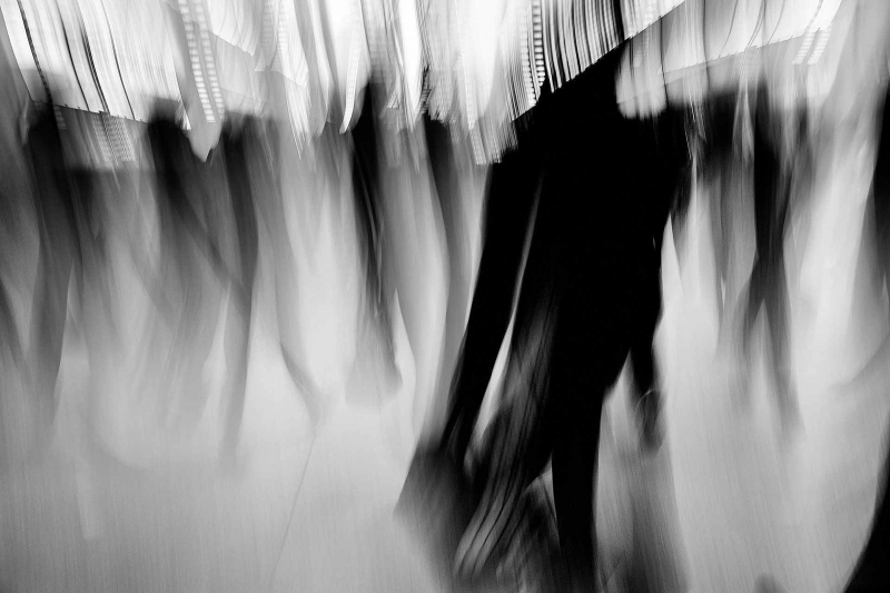 Canary Wharf Commuters - Mike Curry Photography