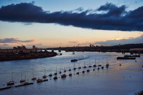 Thames Barrier At Dawn