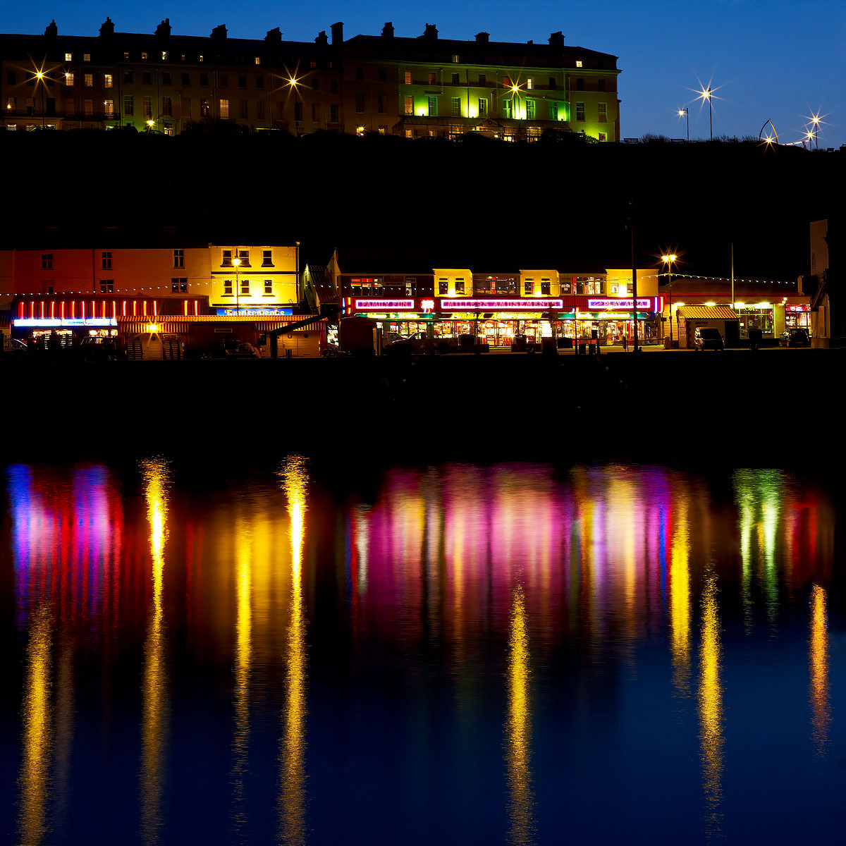 Whitby Bay At Night